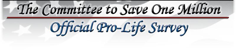 Official Pro-Life Survey